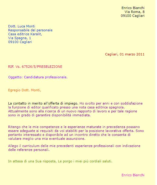 Formal Letter Opening Greetings from talkinitalian.com